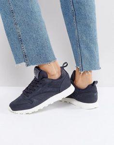 best sneakers 1fc94 7b6fd Reebok Classic Leather MN Sneakers in Dark Gray