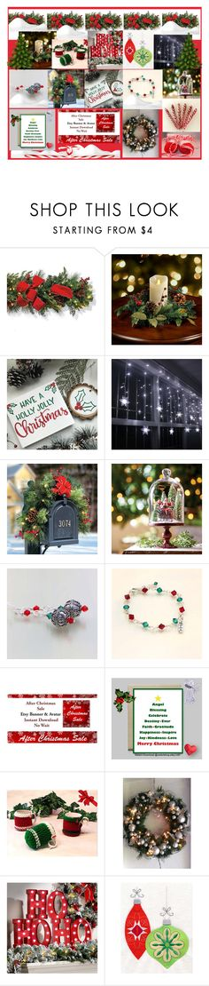 """Holly Jolly Christmas"" by imaginebaby ❤ liked on Polyvore featuring Frontgate and Improvements"