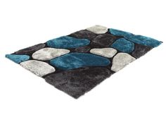 1000 images about deco living bleu blanc rouge on pinterest rouge ca - Tapis shaggy bleu turquoise ...