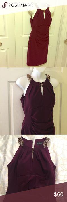 MIDI dress Burgundy color midi dress Betsy & Adam Dresses Midi