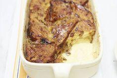 Heerlijk zacht, smeuïg en romig! Recept - Broodpudding van fruit- noten- en rozemarijnbrood - Allerhande
