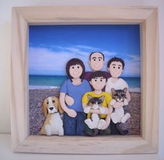 Fimo - 3D Family Portrait in a Box Picture Frame