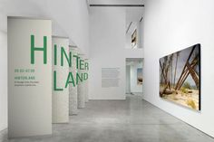 """Typography creatively integrated with the museum exhibit """"Hinterland"""""""
