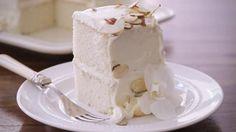 White Almond Wedding Cake Video