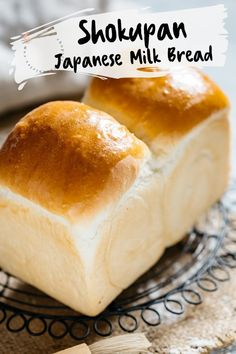 """Shokupan is Japanese Milk Bread and has a fluffy and """"Mochi"""" like texture. This is the best Shokupan recipe for Japanese food lovers and bakers. Discover how to make Super soft Japanese milk bread with the """"Yudane"""" method. This method guarantees soft texture and stays moist for longer than ordinary bread. #Shokupan #Japanesemilkbread #bread #Japanesebread #yudane Japanese Milk Bread, Japanese Food, Easy Japanese Recipes, Asian Recipes, Bread Recipes, Cooking Recipes, Pastry Recipes, Cooking Tips, Vegetarian Recipes"""