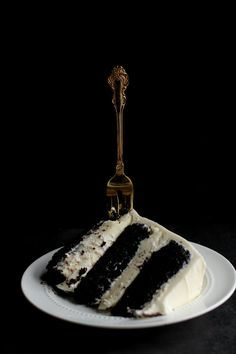 Black Magic Cake with White Chocolate Truffle Filling | Club Narwhal