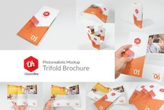 Check out OhsemPro - Trifold by antyalias store on Creative Market Business Brochure, Business Card Logo, Stickers Design, Mockup Templates, Design Templates, Brochure Template, Contemporary Frames, Hanging Posters, Table Design