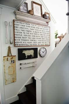 Farmhouse Style Staircase Gallery Wall -
