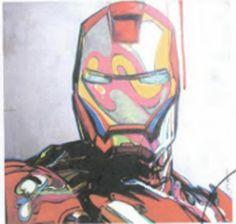 """Leonardo Hidalgo - """"Iron Man"""" (2010) Técnica: Acrílico sobre lienzo montado en madera cubierta de resina  (48"""" x 48"""" /122 cm x 122 cm)"""