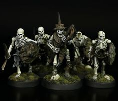 Tomb Guard, Warhammer Vampire Counts, Tomb Kings, Skeleton Warrior, Printed Pages, World War One, Stippling, Metallic Paint, Goblin