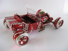 coca-cola recycled car