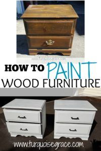 how to paint wood furniture pinterest
