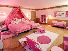 Grand Hotel Savoia, Cortina d'Ampezzo, Italy-Really CUTE nest for a little princess or girls who love pink.