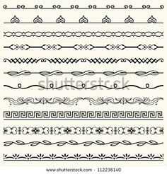 Easy to draw border designs easy borders to hand draw hand drawn design horizontal elements stopboris Image collections