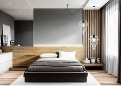 best Ideas for bedroom wood floor light Modern Bedroom Design, Master Bedroom Design, Bed Design, Modern Bedrooms, Modern Design, Master Bedrooms, Bedroom Colors, Bedroom Decor, Mirror Bedroom