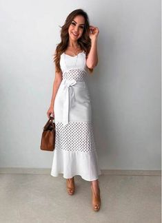 Moda Vestidos Cortos Elegantes Ideas For 2019 Long Lace Skirt, Lace Dress, White Dress, Dress Long, Winter Fashion Outfits, Modest Fashion, Fashion Dresses, Trendy Dresses, Casual Dresses