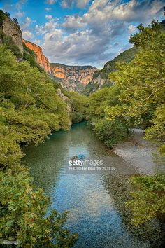 Rafting at Voidomatis river. View from Klidonia's stone bridge from where begins Vikos Gorge