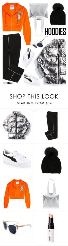 """05. Comfy Hoodie Style :)"" by milva-bg ❤ liked on Polyvore featuring Ivy Park, Puma, Joseph, Moschino, Jil Sander, Pared and Bobbi Brown Cosmetics"