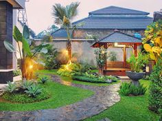 Landscape Design Concept House 68 Ideas For 2019 Small Yard Landscaping, Country Landscaping, Tropical Landscaping, Landscaping Ideas, Contemporary Landscape, Landscape Design, Garden Design, House Design, Natural Pond