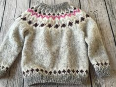 Sweater i islandsk udl . str. 4 år