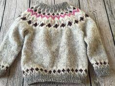 Sweater i islandsk udl . str. 4 år