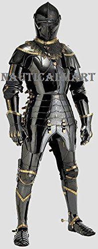 Black Antique Gothic Full Suit Of Armor By Nauticalmart N... https://www.amazon.com/dp/B01IQU475O/ref=cm_sw_r_pi_dp_x_sQQ2yb1TVX7NP