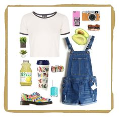 Summer✨ by petrificustxtalus on Polyvore featuring polyvore, fashion, style, Casetify, Topshop, Dr. Martens, Essie, Kate Spade and Tweedmill