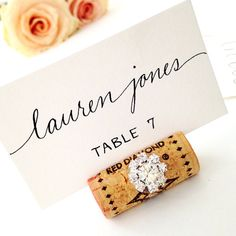 gemstone single cork place card holder - Table Place Cards