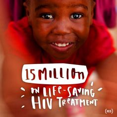 HUGE NEWS: 15 million people are on life-saving HIV treatment – a goal met 9 months early. Learn more at blog.red.org. #endAIDS