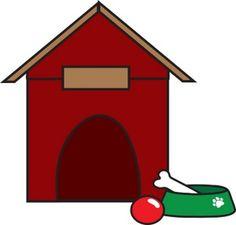 a dog house with a bone clipart dog houses clip art and digital rh pinterest com clipart dog house dog house clipart free