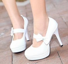 Factory sell 2013 free shipping womens dress bow white wedding shoes platform high heel sexy Pumps black peach wholesale HH293-in Pumps from Shoes on Aliexpress.com