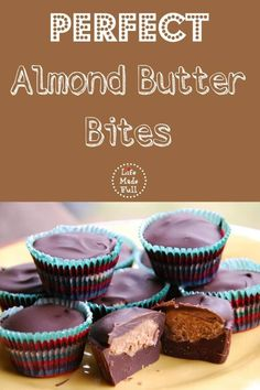These are perfect chocolate almond butter bites! Delicious and quick to assemble!