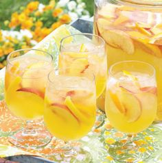 Kick off summer with a pitcher of Peach Sangria. Freeze peach nectar in ice cube trays and plop a few in each glass before pouring. Don't want to water down those cocktails!
