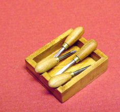 Dollhouse Miniature 1:12 scale woodcarving by miraclechicken