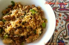 Italian Sausage Dirty Rice Recipe by Momma Cuisine Dirty Rice is a southern dish, most particularly popular and coming from Cajun and Creole country. My version of dirty rice uses Italian sausage, ou(Vegan Rice Recipes) Recipes With Italian Sausage Links, Sweet Italian Sausage, Italian Recipes, Italian Rice, Italian Dishes, Sausage And Rice Casserole, Sausage Rice, Rice Recipes, Casserole Recipes