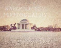 Jefferson Memorial Fine Art Photograph 8x10 by KEnzPhotography, $30.00