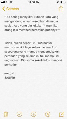 aku sih yes! Text Quotes, Mood Quotes, Cinta Quotes, Quotes Galau, Postive Quotes, Quotes From Novels, Reminder Quotes, Pretty Quotes, Simple Quotes