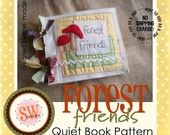 PATTERN for Forest Friends Animals plush\/quiet book - PDF. $9.50, via Etsy.