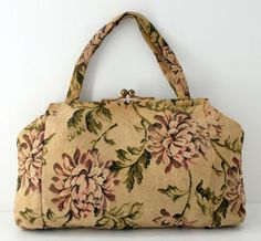 1950s Seligman NY Tapestry Purse