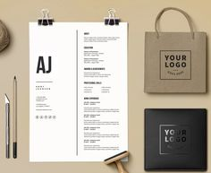 Resume Template no 14 FREE Cover letter // von ResumeAngels