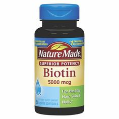 Nature Made Biotin 5000 mcg Softgels - 45 Count