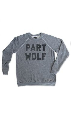 part wolf pullover
