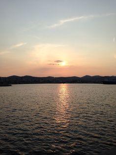 SUNSET OF LAVRIO.....GREECE.        (My photo) Carmen Sandiego, Athens, San Diego, Greece, My Photos, Celestial, Sunset, Outdoor, Greece Country
