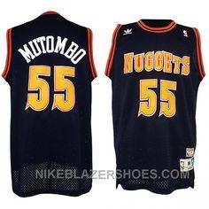 Dikembe Mutombo NBA Denver Nuggets  55 Classics Swingman Black Jerseys Free  Shipping RdkiT 10a17ec32