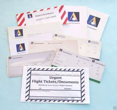 ANSETT AIRLINES UNUSED TICKET COVERS, BOARDING PASSES