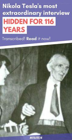 Nikola Tesla gave an extraordinary interview over 116 years ago that had been hidden, up until now!