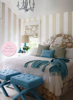 toile and turquoise