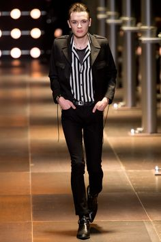Saint Laurent Spring 2014 Menswear Fashion Show