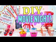 DIY Movie Night! Snacks, Decor & more! - YouTube