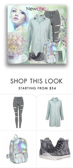 """""""Newchic 11"""" by marinadusanic ❤ liked on Polyvore featuring Topshop and Converse"""